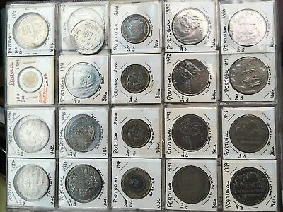 PORTUGAL 116 COINS, MAJORITY UNC. & COMMEMORATIVE -5 LBS TOTAL WEIGHT See descr.