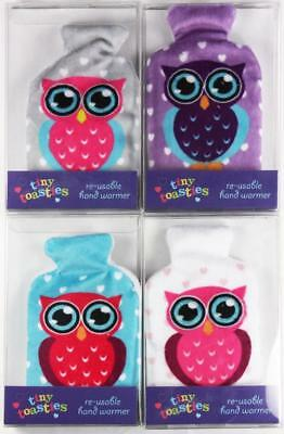 Owl Design Pocket Hand Warmers Re-Useable Hot Heat Reuseable Various Colours