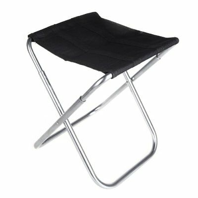 Portable Folding Aluminum Oxford Cloth Chair Outdoor Patio Fishing Camping D6Y1