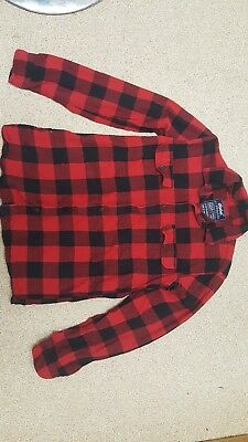 boys checked red and black shirt age 12-13 years