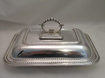 A Good Ornate Silver Plated Lidded Tureen - c1900