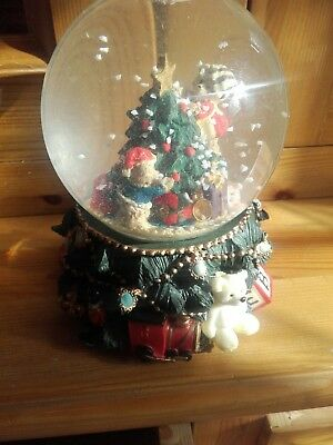 Waterford Winter Santa musical snow globe