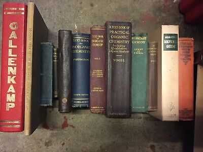 X12 Old Chemistry/Science Books
