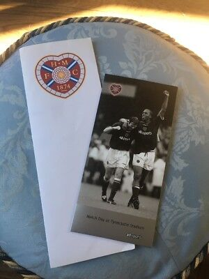 Hearts FC: Hearts V. Partick Thistle 24.01.2004 Various Items