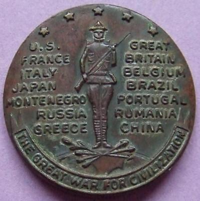 Medal (24mm) The Great War for Civilisation  - Scarce/Unusual.............Oc32