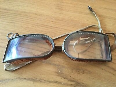 Antique WWI Flying/Motorbike Goggles