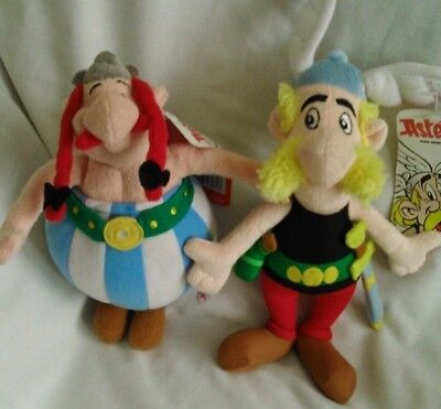 official set of 2 asterix soft toys asterix and obeljsk both 9 inch bnwt