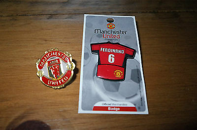 2 Manchester  United Football Badges