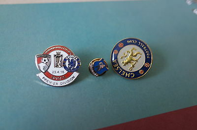3 Chelsea  Football Badges