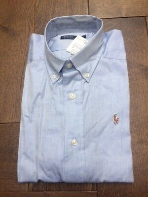 Brand new Ralph Lauren boy's blue chambray shirt, age 14