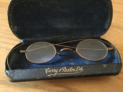Antique Spectacles Brass in Case