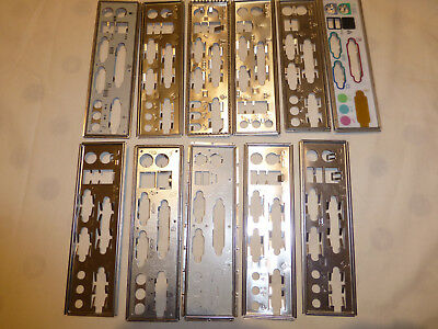 10 x Standard Layout Motherboard Backplates