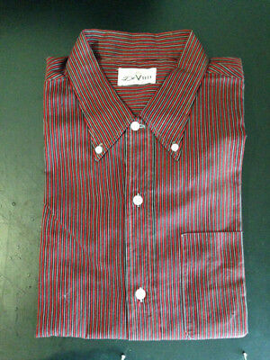 Old American shop deadstock Ivy League Mod woven striped 50s 60s shirt size L