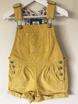 Mini Boden Girls Short Dungarees Age 3-4 Years Excellent Condition