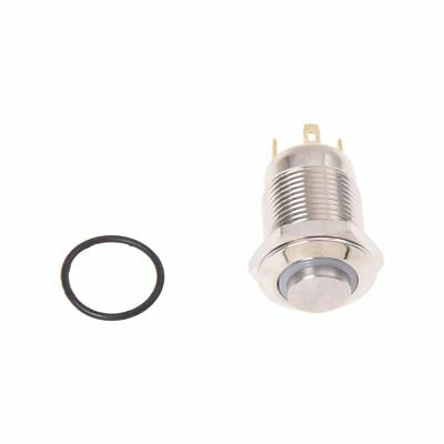 3V Push Button Switch Doorbell Button Blue LED 12 mm Silver W7O7 W0G0