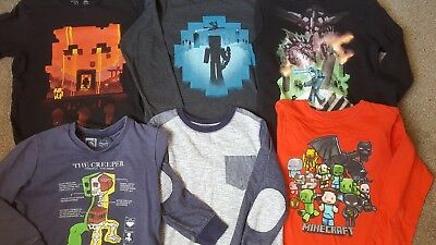 Boys clothes bundle age 7-8 years. Minecraft!