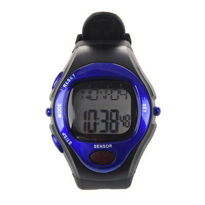 Blue Sport Exercise Stop Watch Calorie Counter Heart Rate Monitor W8T2 T1K8