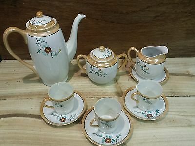 Miniature Tea set For Three, Hand Painted floral Design