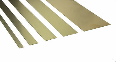 "K&S Brass Strips - Widths 1/4"" - 2"" Various Thickness 12"" Long Precision Metals"