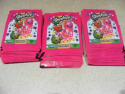 SHOPKINS  75 SEALED PACKETS of STICKERS ( 375 stickers total )