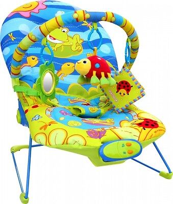 Baby Vibrating Musical Bouncy Chair - Bright Frog Design