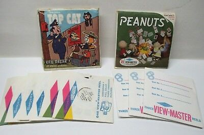 1960s Peanuts & Top Cat View-Masters With 10 Extra Reels - Disney Favorites More