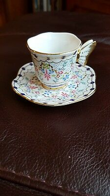 Past times minature cup and saucer-fine porcelain