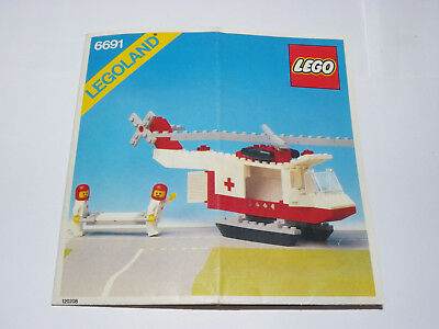 Lego Legoland 6691 Red Cross Helicopter 1981 INSTRUCTIONS ONLY Vintage RARE
