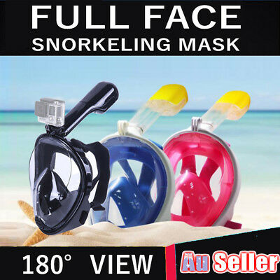Full Face Snorkeling Mask Diving Seaview Snorkel Swimming Goggle For GoPro Scuba
