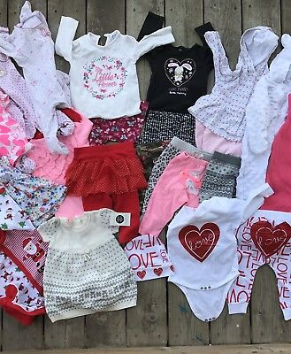 Large Lot 3-6 Months Baby Girl Clothes, Carter, Garnamals, George, Converse