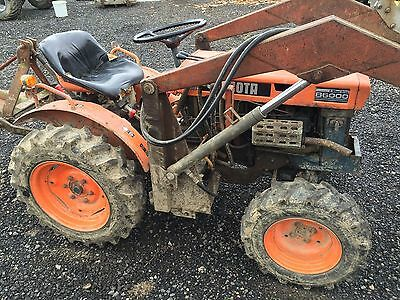4WD Compact Tractor,  Front Loader 2 Buckets, Rotavator, Mower