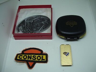CONSOL Coal Mine Safety Awards..Belt Buckle,Money Clip,Clock,Patch