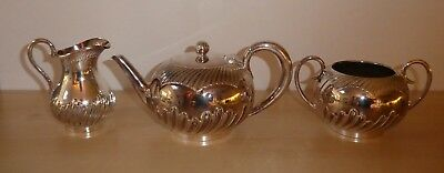 Silver Plated Walker & Hall Tea Set 3231 And 53231