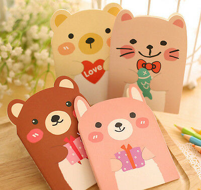 Students Kids Cute Stationery Cartoon Animal Mini Notepad Diary Notebook SALE A