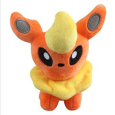 5.5in Plush Toy Soft Stuffed Cartoon Toy Doll Eevee Flareon Kid's Gift
