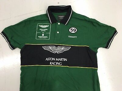 Aston Martin Racing Team Issue Polo Shirt by Hackett Large used