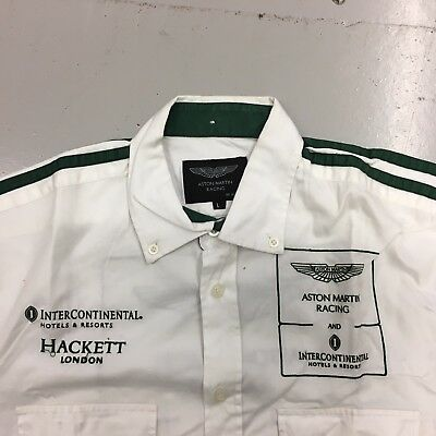 Aston Martin Racing Crew Shirt Team Issue By Hackett Large Used.