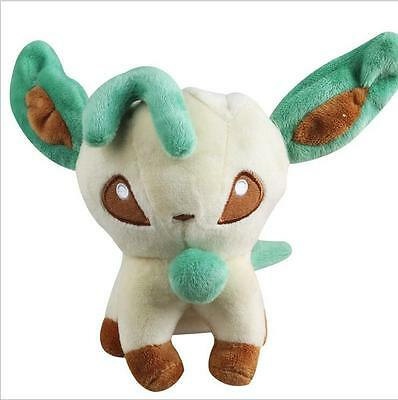 5.5in Plush Toy Soft Stuffed Cartoon Toy Doll Eevee Leafeon Kid's Gift