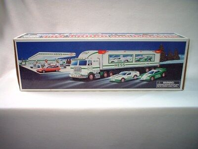 1997 Hess Toy Truck and Racers mint condition NIB