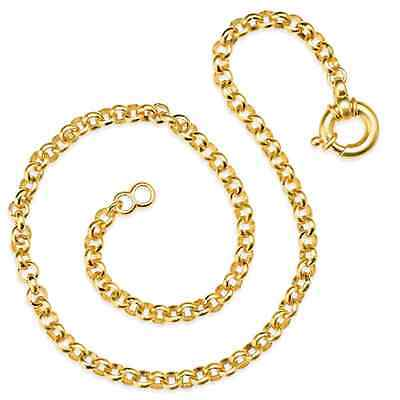 Chain Pea Chain Silver Goldplated Drachenfels Design D KE 54 1 Length 42 cm