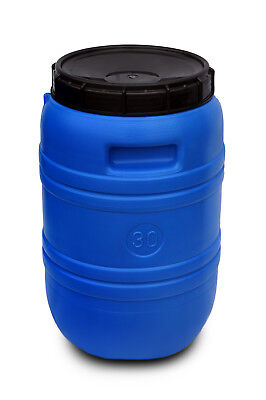 Plastic barrel 30L Water Storage Container Drum Keg Food Grade Tank HDPE Durable