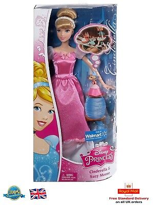 Disney Princess Cinderella and Suzy Mouse Doll Toy Gift Girls Birthday Gift
