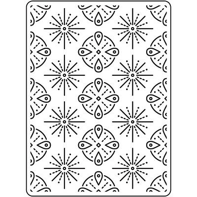 "Embossing Folder 4.25""X5.75"" Tribal EB12-23114"