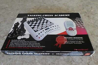 Talking Chess Academy (and draughts challenge)