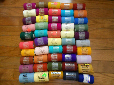PUNCH EMBROIDERY YARN 50 Spools Pretty Punch/ Magic/Purr Fect Punch