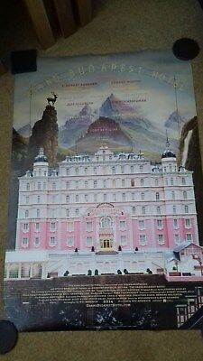 Original US Size Style Poster For Wes Anderson's - The Grand Budapest Hotel