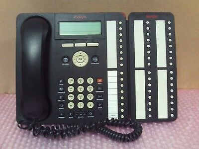 AVAYA 1616 IP VoIP Receptionist Secretary with BM32 Button Module with stand