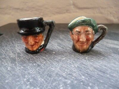 2 Royal Doulton Tiny Character Jugs--John Peel And Auld Mac