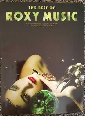 The Best of Roxy Music piano, voice and guitar music lyrics & chords book