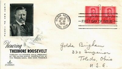 Dr Jim Stamps President Theodore Roosevelt First Day Issue Dual Franked Cover